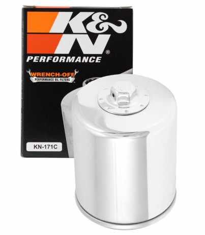 K&N K&N Performance Gold KN-171C Oil Filter, medium chrome  - 29-262