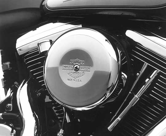 Harley-Davidson Air Cleaner Cover Nostalgic Bar & Shield, Round  - 29138-91A