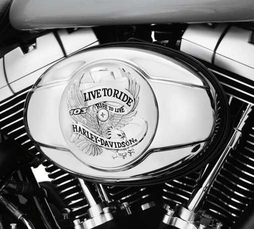 Harley-Davidson Air Cleaner Trim Live To Ride 103 chrome  - 29378-11