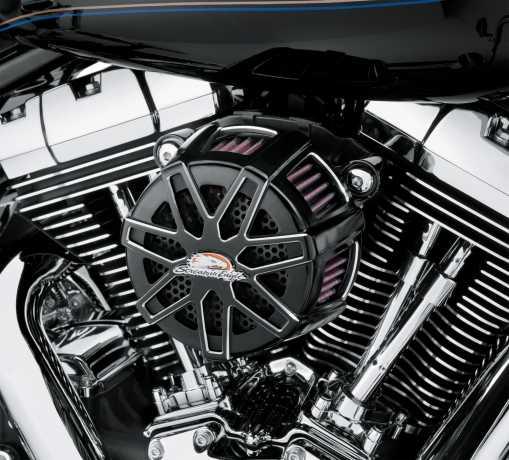 Harley-Davidson Screamin' Eagle Chisel Extreme Billet Air Cleaner Kit, black  - 29400127