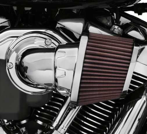 Harley-Davidson Screamin Eagle High-Flo K&N Air Filter Element Heavy Breather, chrome  - 29400275