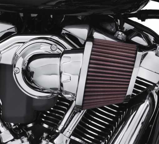 Harley-Davidson Screamin Eagle High-Flo K&N Luftfilter Element Heavy Breather, chrom  - 29400275