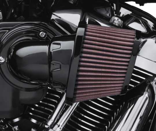 Harley-Davidson Screamin Eagle High-Flo K&N Luftfilter Element Heavy Breather, schwarz  - 29400276
