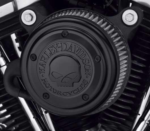 Harley-Davidson Luftfilter-Zierblende Willie G Skull schwarz  - 29400366