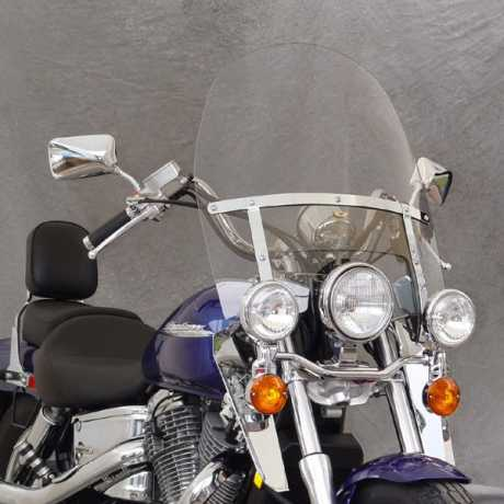 """National Cycle National Cycle Touring Heavy Duty Windshield 20"""" clear  - 33-100"""