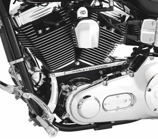 Harley-Davidson Shifter Linkage Cover with Harley-Davidson Script  - 33878-04