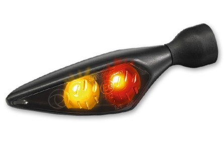 Kellermann Kellermann Rhombus DF 3in1 LED turn signal set black / dark glass - 41-99-881