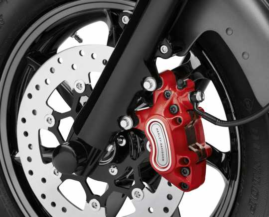 Harley-Davidson Front Single Disc Brake Caliper Kit Red  - 41300152