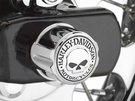 Harley-Davidson Rear Axle Nut Cover Kit Willie G Skull  - 41706-09A