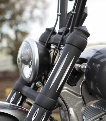 """Thunderbike Scheinwerfer Bates Style 5.75"""" schwarz & gerillt - 42-99-525"""