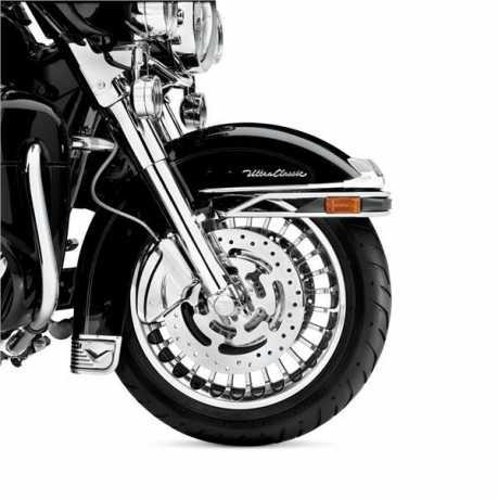 """Harley-Davidson Knuckles 28-Spoke 17"""" Front wheel  Contrast Chrome  - 42195-10"""