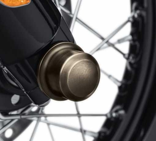 Harley-Davidson Brass / Messing Kappen für Vorderachsmuttern  - 43000046