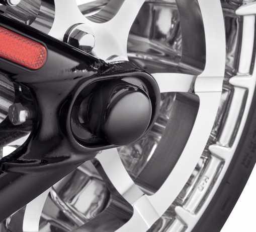 Harley-Davidson Mutternkappen für Hinterachse, schwarz  - 43000052