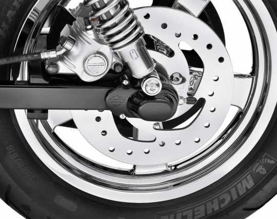 Harley-Davidson Hinterachsabdeckungen Bar & Shield schwarz  - 43013-09A