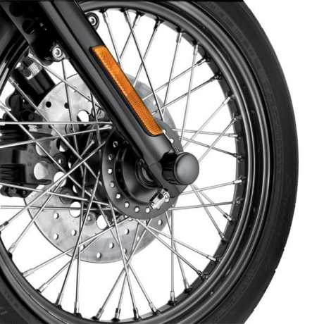 Harley-Davidson Front Billet Axle Nut Cover Kits, gloss black  - 43428-09