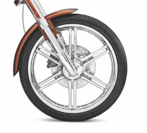 "Harley-Davidson Slotted 6-Speichen-Rad 21"" Vorn Chrom  - 43973-08"