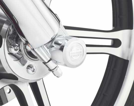 Harley-Davidson Aluminator Billet Front Axle Nut Cover Kit  - 44114-07