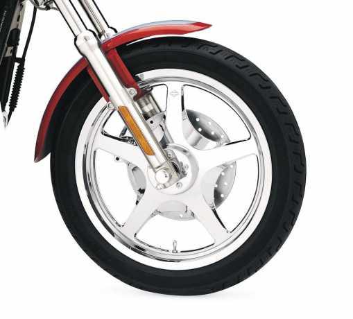 """Harley-Davidson ThunderStar Custom Wheel 19"""" Front Mirror Chrome  - 44282-07"""