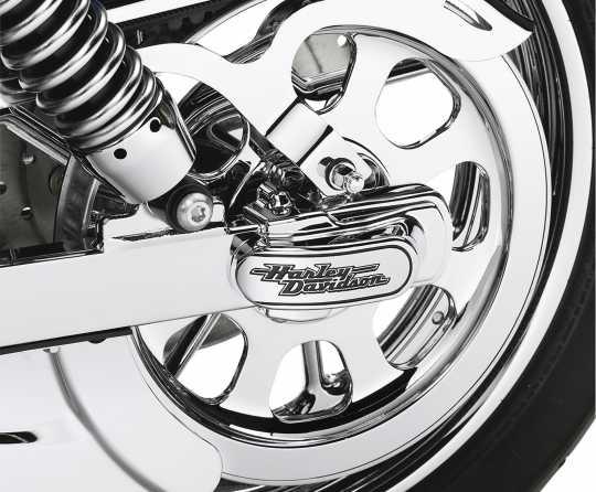 Harley-Davidson Hinterachsabdeckung mit Harley-Davidson Schriftzug  - 44346-06