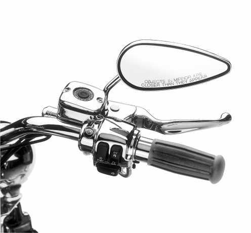 Harley-Davidson Kupplungshalter & Hauptbremszylinder Reservoir, Chrom  - 45284-99E