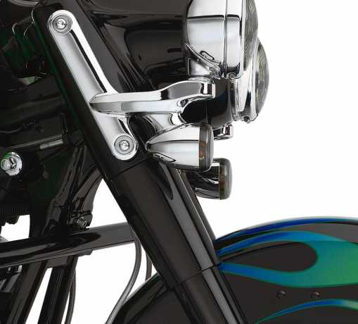 Harley-Davidson Upper Fork Slider Covers - Gloss Black  - 45591-02