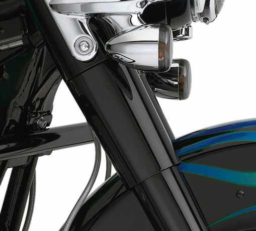 Harley-Davidson Tauchrohrabdeckung Oben schwarz  - 45600023