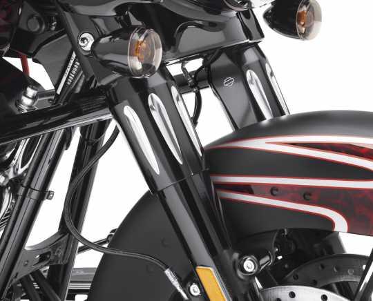 Harley-Davidson Edge Cut Tauchrohrabdeckungen Oben  - 45600031