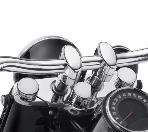Harley-Davidson Schraubenabdeckung für Lenkstange chrom  - 45700049
