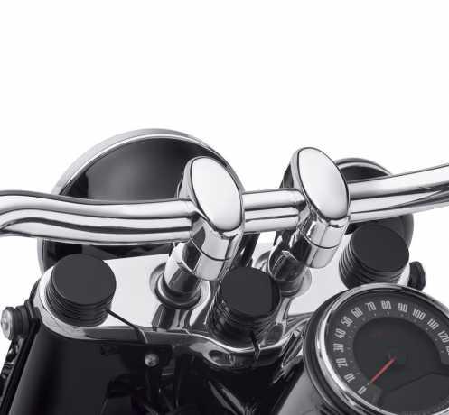 Harley-Davidson Lenkkopf Bolzenabdeckung schwarz  - 45700050
