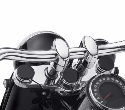 Harley-Davidson Lenkkopf Bolzenabdeckung schwarz cut  - 45700051