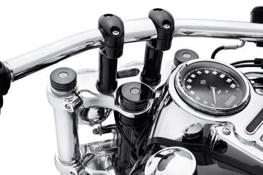 Harley-Davidson Upper Fork Nut Covers gloss black  - 45800015