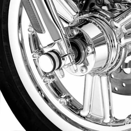 Harley-Davidson Fork Axle Retainer Nut Kit - Chrome  - 45813-03
