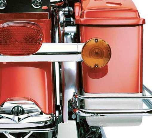 Harley-Davidson Satteltaschen-Blendenleisten Slotted Chrom  - 45896-98