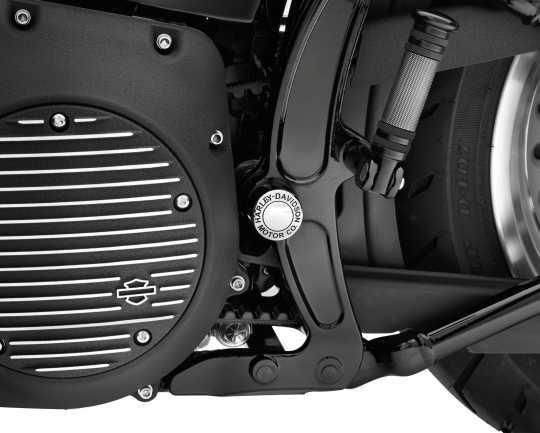 "Harley-Davidson Swingarm Pivot Bolt Cover Kit - ""Harley-Davidson Motor Co."" Logo  - 47630-09"