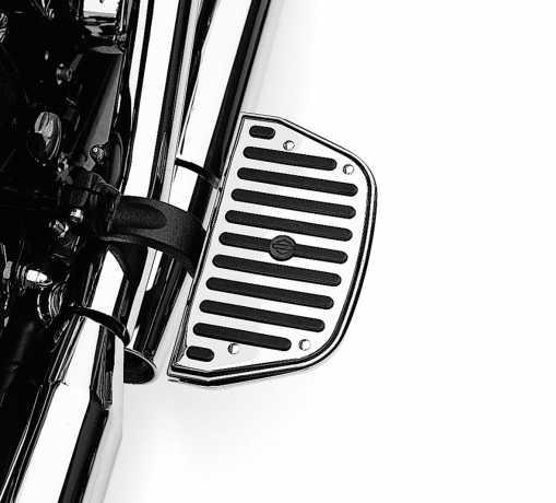 Harley-Davidson Chrome & Rubber Sozius-Trittbretteinsätze Klassische Form  - 50177-95