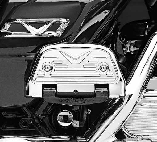 Harley-Davidson V-Logo Sozius-Trittbrettabdeckungen  - 50194-96