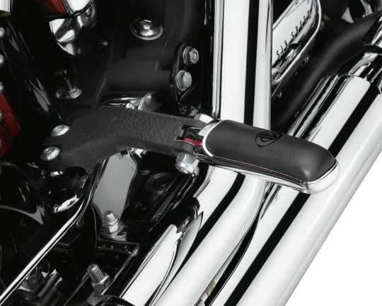 Harley-Davidson Passenger Footpeg Support Kit wrinkle black  - 50210-06