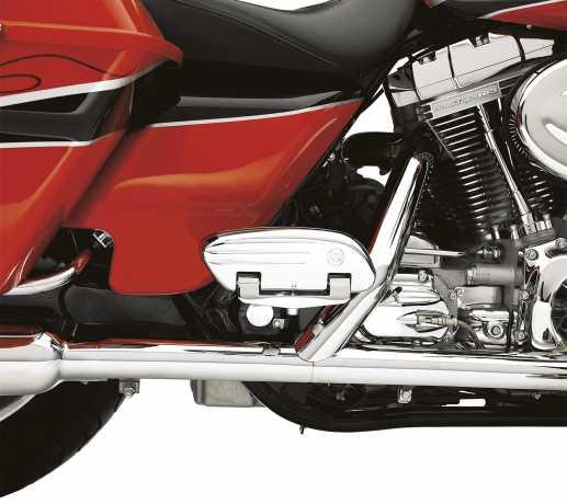 Harley-Davidson Swept Wing Soziustrittbrettwannen Gefräst  - 50357-04