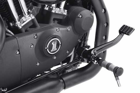Harley-Davidson Diamond Black Footpegs with Styled Wear Peg  - 50500035