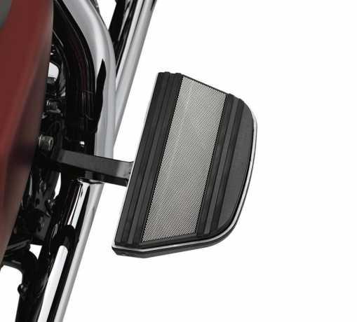 Harley-Davidson Diamond Black Sozius-Trittbretteinsätze Klassische Form  - 50627-08