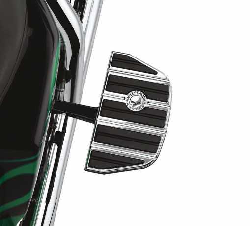 Harley-Davidson Willie G Skull Footboard Inserts Passenger - Traditional Shape  - 50713-04