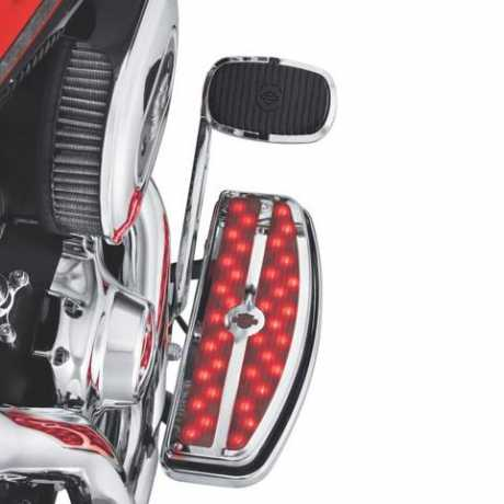 Harley-Davidson Electra Glo Footboard Inserts - Rider Red  - 50745-10