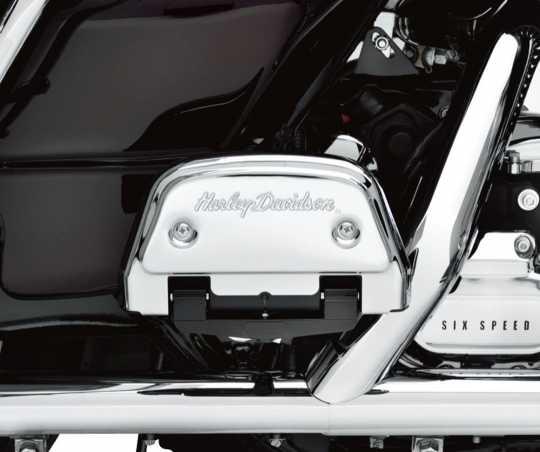 Harley-Davidson Sozius Trittbrettabdeckungen Harley-Davidson Schriftzug  - 50782-91