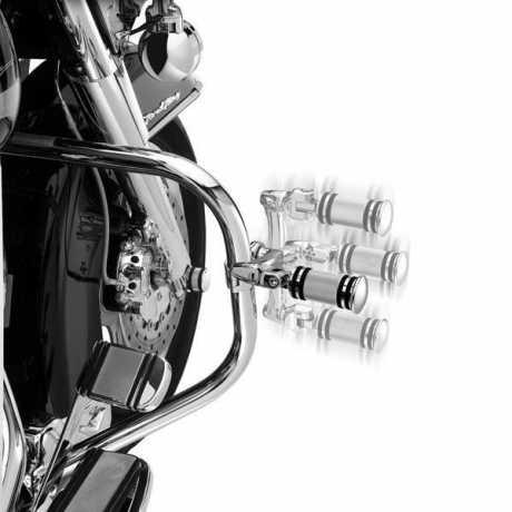 """Harley-Davidson Montagekit für einstellbare Highway Fußrasten 360° Kurzer 3"""" Versatz  - 50832-07A"""