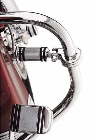 Harley-Davidson Billet Engine Guard Footpeg Mounting Kit, chrome  - 50957-02C