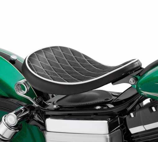 "Harley-Davidson H-D Solo Spring Saddle 10.5"" Black Diamond  - 52000276"