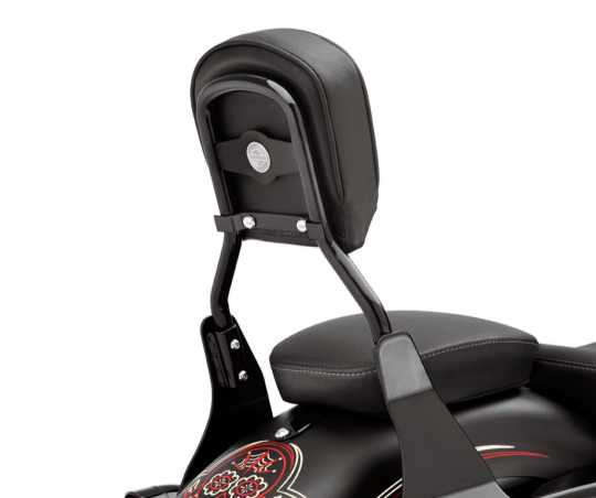Harley-Davidson Low Round Bar Sissy Bar Upright Gloss Black  - 52300024