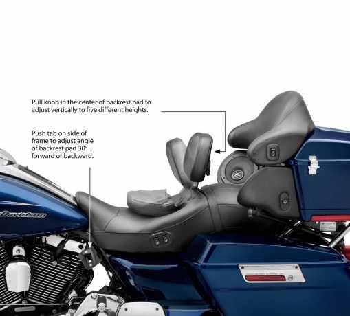 Harley-Davidson Einstellbare Fahrerrückenlehne Komfort-Steppung  - 52423-09A