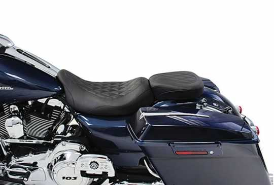 "Mustang Mustang Wide Tripper Solo Seat 14"" Diamond, black  - 537008"