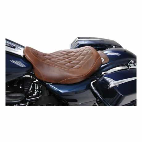 "Mustang Mustang Wide Tripper Solo Seat 14"" Diamond, brown  - 537010"